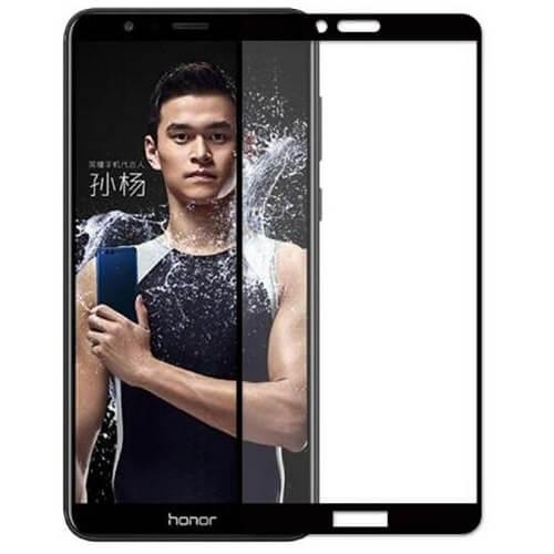Защитное стекло полное (2.5D) для Huawei Honor 7X Черный