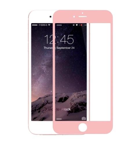 Защитное 3D стекло (бронестекло) для iPhone 6/6S цветное Розовый