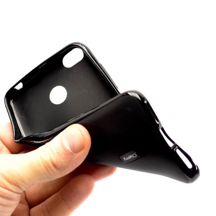 Силиконовый чехол для iPhone 7, черный матовый