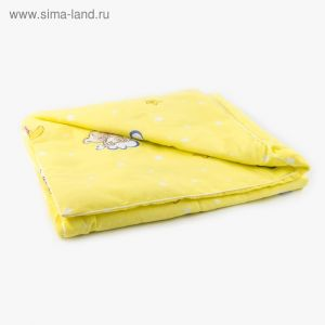 Одеяло 100х140см, бязь/холлофайбер, 120/100гм, хл100%