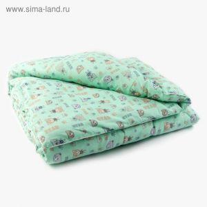 Одеяло 100х140см, бязь/холлофайбер, 120/300гм, хл100%