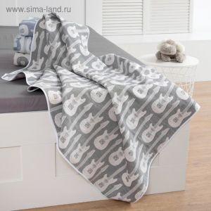 Одеяло детское «Крошка Я» Гитара 110?140 цвет серый, жаккард, 100% хлопок