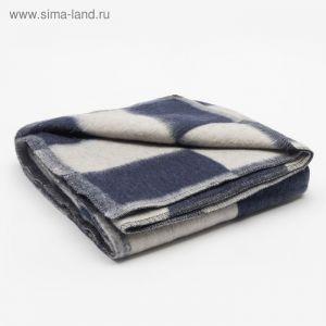 Одеяло полушерстяное, размер 100х140 см, цвет микс