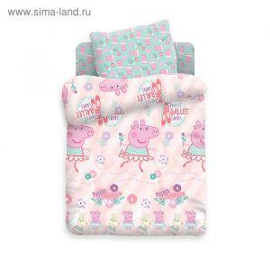 Детское постельное бельё Свинка Пеппа «Балерина»