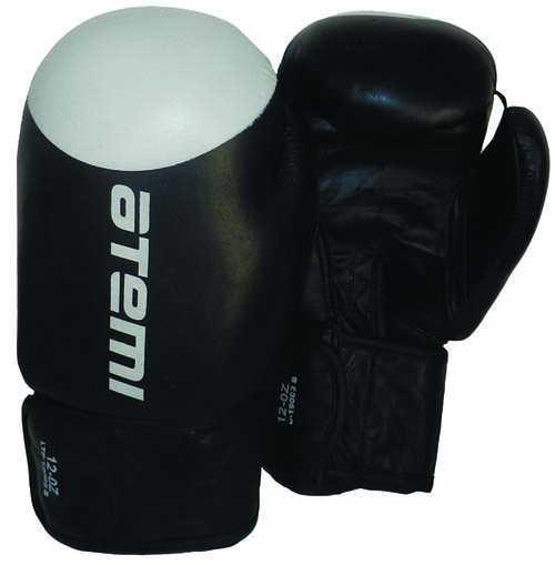 Перчатки боксерские ATEMI черно-белые LTB19009