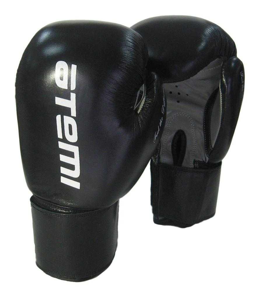 Перчатки боксерские ATEMI черно-серые LTB19009