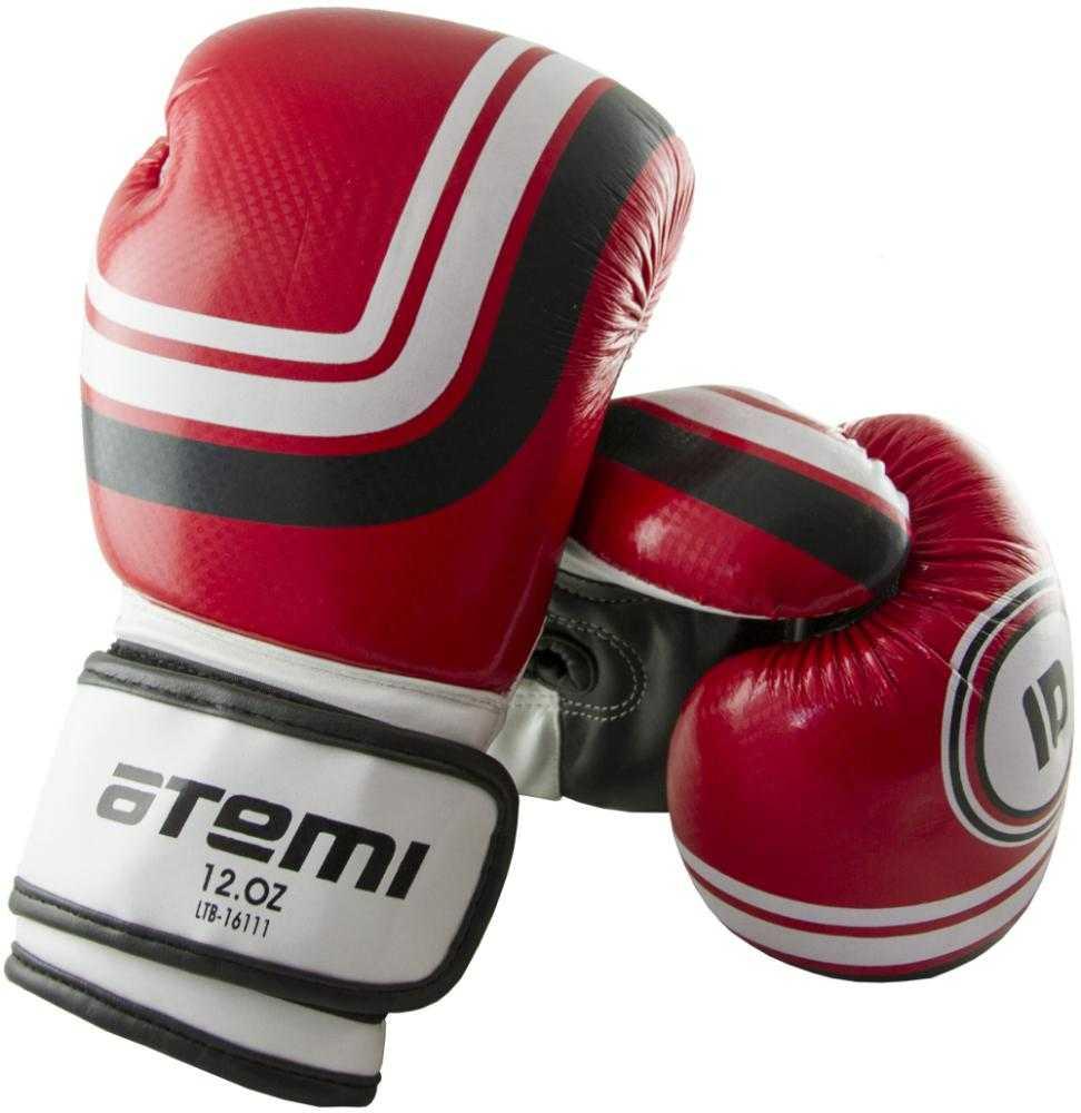 Перчатки боксерские ATEMI красные LTB-16111