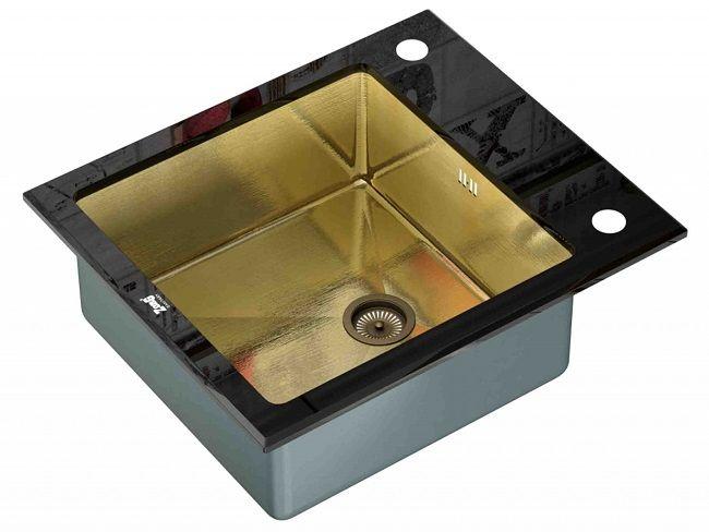 Врезная кухонная мойка ZorG INOX GL-6051 BLACK-BRONZE