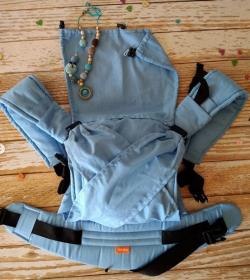 Эрго рюкзак КОМФОРТ - Однотонный голубой лён