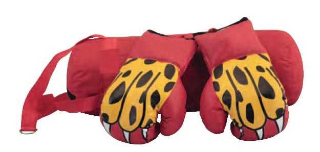 Набор боксерский детский (мешок + перчатки) ATEMI красный BS