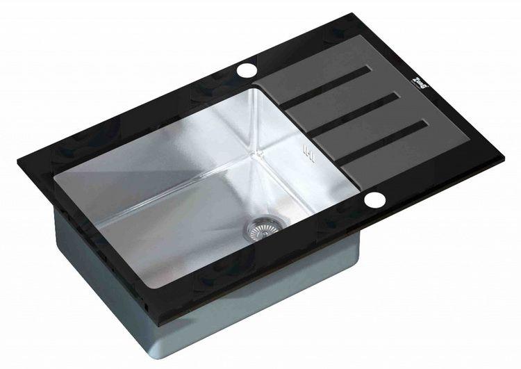Врезная кухонная мойка ZorG INOX GL-7851 BLACK