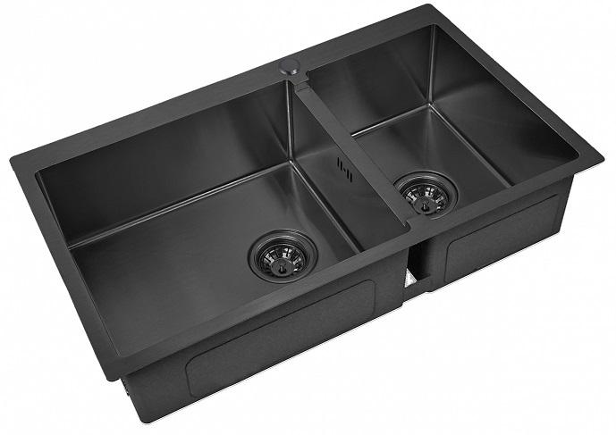 Врезная кухонная мойка ZorG PVD 78-2-51-L GRAFIT