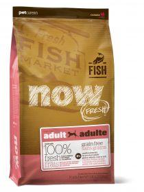 NOW Natural holistic Беззерновой корм для взрослых собак с форелью и лососем для чувств. пищеварения Grain Free Fish Adult Recipe  11,3 кг