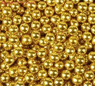 Шарики Жёлтые Хром (d5 мм) 50 гр.