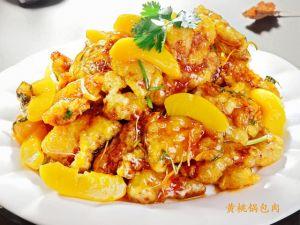 61 Цыплёнок в соусе с персиками