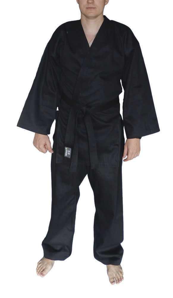Кимоно для рукопашного боя ATEMI черное AKRB-01