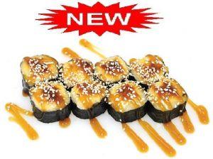 047 Запеченный ролл Саппоро с сырным соусом