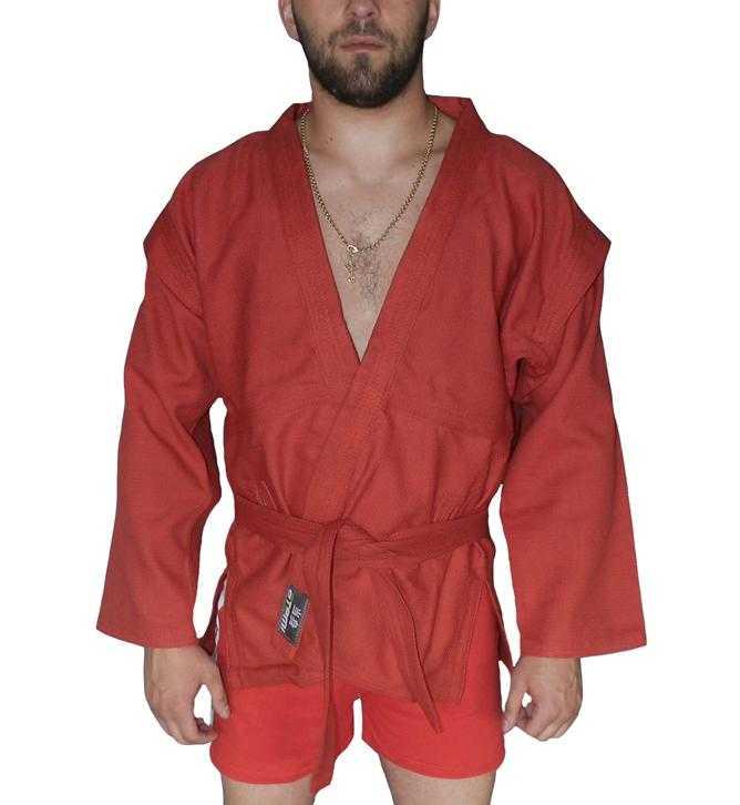 Куртка для самбо ёлочка без подкладки ATEMI красная AX5