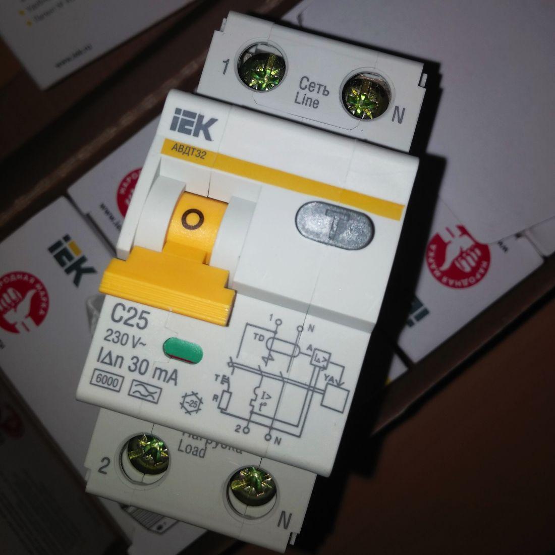 IEK выключатель автоматический дифференциального тока AVDT32 MAD22-5-025-C-30
