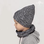 ШВ19-05241290 Двухслойная удлиненная трикотажная шапка с принтом, березка