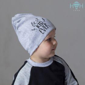 ШВ19-04271741 Шапка двухслойная Best Kid Ever, серый меланж