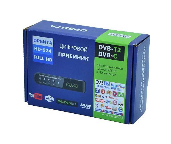 Ресивер DVB-T2/С Орбита HD924 +HD плеер 1080i
