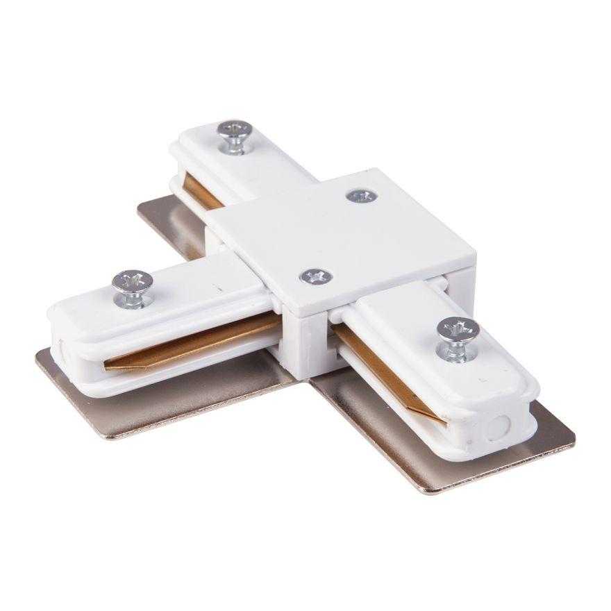 Коннектор Т-образный для однофазного шинопровода белый Elektrostandard TRC-1-1-T-WH