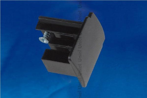 Заглушка для шинопровода торцевая Uniel черный UFB-C41 BLACK