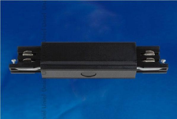 Соединитель для шинопроводов 3-фазный прямой внешний Uniel черный UBX-A12 BLACK 1 POLYBAG