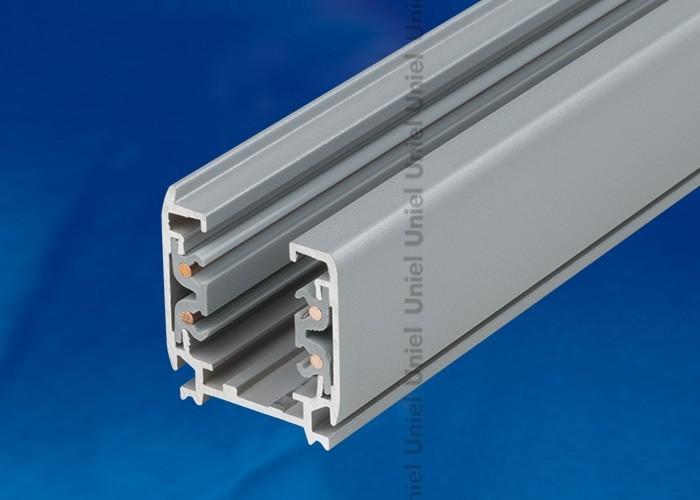 Шинопровод осветительный 3-фазный Uniel серебро L=3м UBX-AS4 SILVER 300 POLYBAG