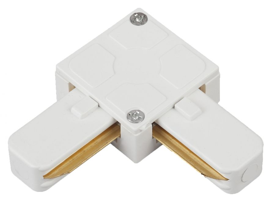 Коннектор угловой для однофазного шинопровода модели TR6  ЭРА TR7-C 2W LWH