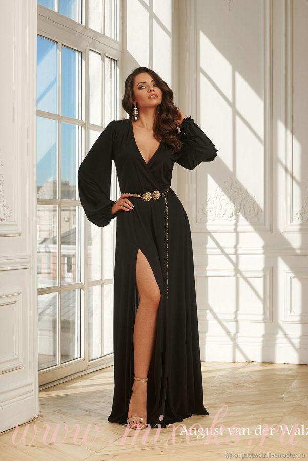Летнее платье черного цвета