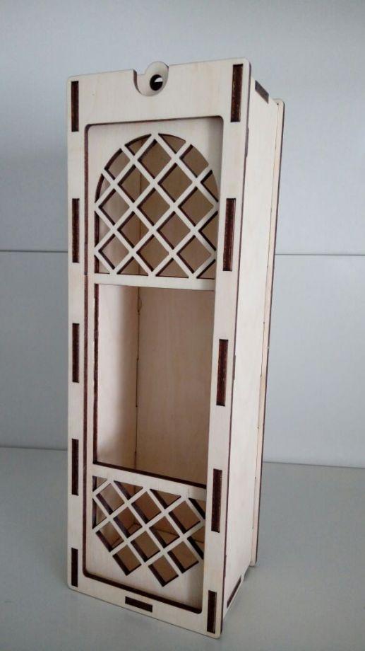 Коробка под вино резная