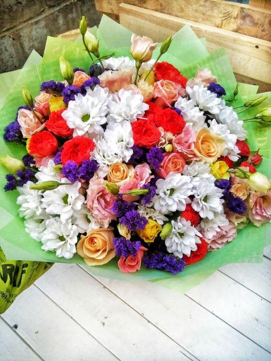 Букет Радуга цветов