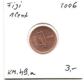 Ритуальная чаша (Регулярный выпуск) 1 цент Фиджи 2006