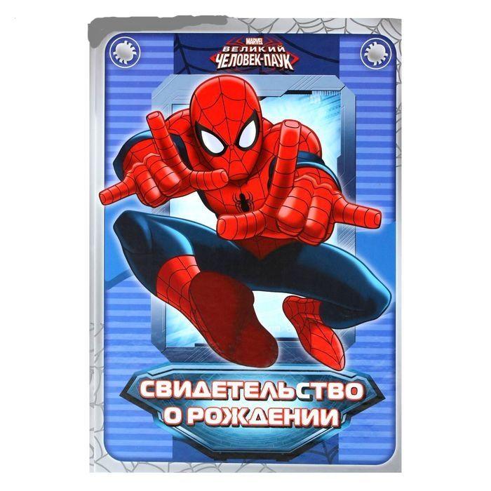 """Папка для свидетельства о рождении A5 """"Человек-паук"""""""