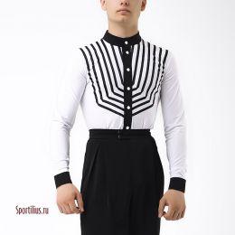 """Рубашка для латины """"Гермес"""" белая"""
