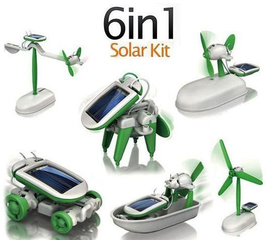 Конструктор на солнечной батарее Robot kits 6 в 1