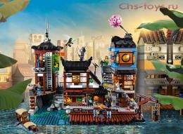 Конструктор LE JI Ninja Порт НИНДЗЯГО Сити LJ99016 (70657) 3553 дет