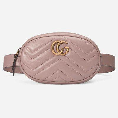 Женская сумка в стиле GG Marmont, розовая