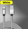 Кабель USB Type-C 25см белый