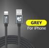 Кабель для IPhone 25см черный