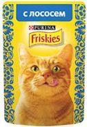 Friskies  Влажный корм для кошек с лососем (пауч 85 г)