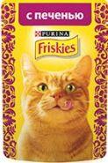 Friskies  Влажный корм для кошек с печенью (пауч 85 г)