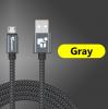 USB - кабель (USB - microUSB) 25 см черный