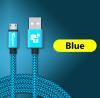 USB - кабель (USB - microUSB) 25 см синий