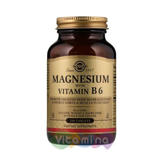 Солгар Магний с витамином B6, 250 табл.