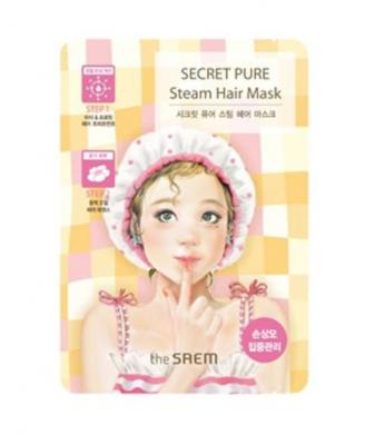 Корейская маска паровая для поврежденных волос Secret Pure Steam Hair Mask Saem