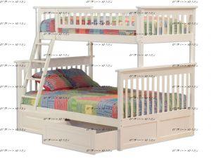 Кровать-домик двухъярусная Лейла №В