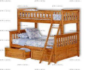 Кровать-домик двухъярусная Модерн Плюс №В